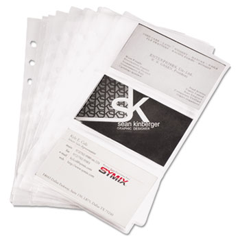 Refill Sheets For 4 1 X 7 Business Card Binders 60 Capacity 10 Pack