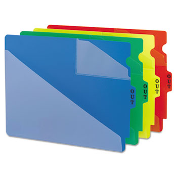 Smead® End Tab Poly Out Guides, Two-Pocket Style Thumbnail