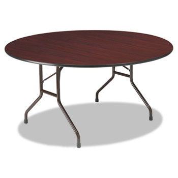 Iceberg Premium Wood Laminate Round Folding Table Thumbnail