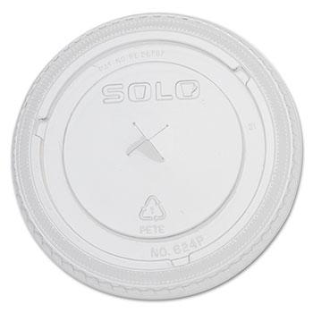 Dart® PETE Plastic Flat Straw-Slot Cold Cup Lids Thumbnail