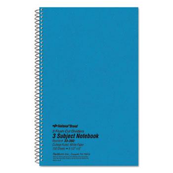 National® Three-Subject Wirebound Notebooks Thumbnail