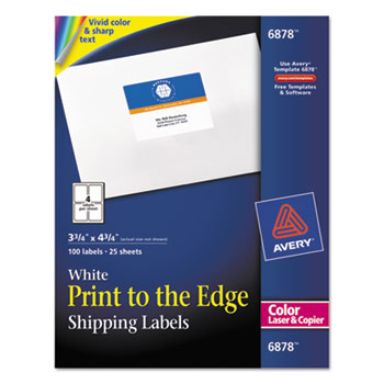 Vibrant Color Printing Shipping Labels 3 4 X White 100 Pack