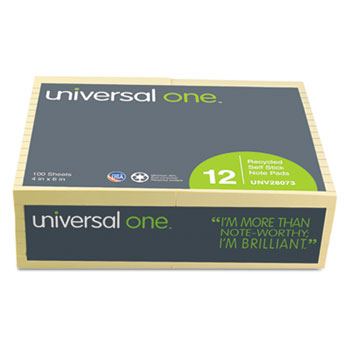 Universal® Recycled Self-Stick Note Pads Thumbnail