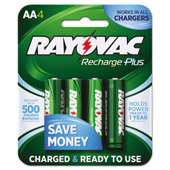 Rayovac® Recharge Plus NiMH Batteries Thumbnail