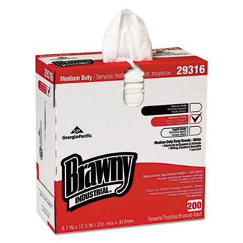 Georgia Pacific® Professional Brawny Industrial® Lightweight Disposable Shop Towel Thumbnail