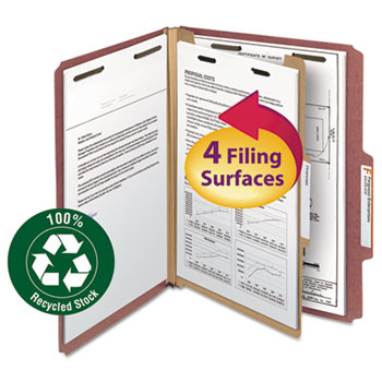 Smead® 100% Recycled Pressboard Classification Folders Thumbnail