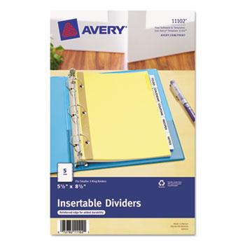 Insertable Standard Tab Dividers By Avery Ave11102 Ontimesupplies