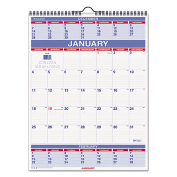 AT-A-GLANCE® Three-Month Wall Calendar Thumbnail