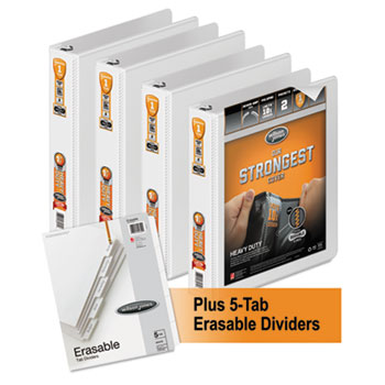 Wilson Jones® Heavy-Duty Round-Ring View Binder Plus Pack Thumbnail