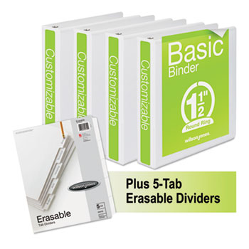 Wilson Jones® Basic Round-Ring View Binder Plus Pack Thumbnail