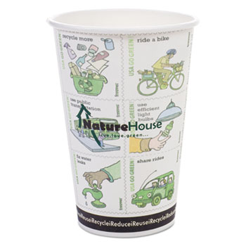 NatureHouse® Compostable Insulated Paper/PLA Corn Plastic Lined Hot Cups Thumbnail