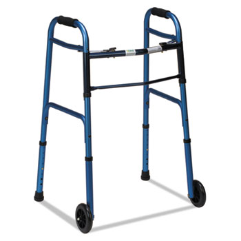 DMI® Two-Button Release Folding Walker with Wheels Thumbnail