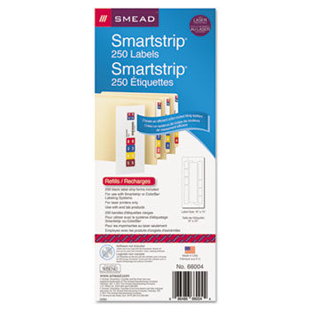 Smead® Color-Coded SmartStrip® Refill Label Forms Thumbnail