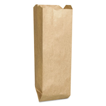 Quart Paper Liquor Bag, 35lb Kraft, Standard 4 1/4 x 2 1/2 x 16, 2000 bags