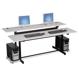 BALT® Split-Level Computer Training Table, 72 x 36 Thumbnail