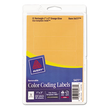Printable Removable Color Coding Labels By Avery Ave05477