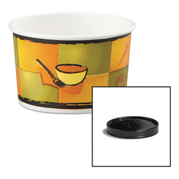 Huhtamaki Soup Containers with Vented Lids Thumbnail