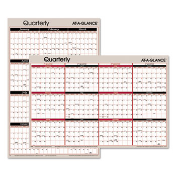 AT-A-GLANCE® Vertical/Horizontal Erasable Quarterly/Monthly Wall Planner Thumbnail