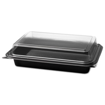 Dart® Creative Carryouts® Hinged Plastic Hot Deli Boxes Thumbnail