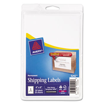 full sheet labels with trueblock technology by avery ave5292