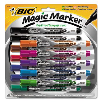 BIC® Magic Marker® Brand Low Odor AND Bold Writing Dry Erase Marker Thumbnail