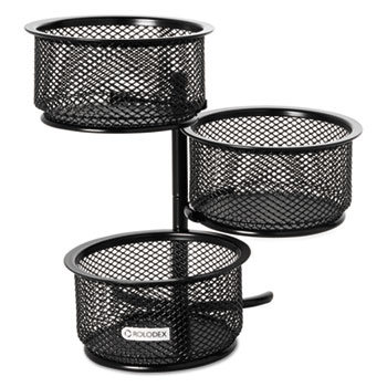 3 Tier Wire Mesh Swivel Tower Paper Clip Holder 4 X 6 1 2 Black