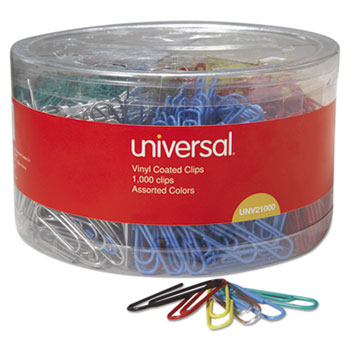 Universal® Plastic-Coated Paper Clips Thumbnail