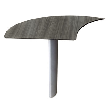 Mayline® Medina™ Series Laminate Curved Desk Extension Thumbnail