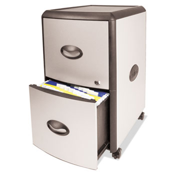 Storex Mobile Filing Cabinet with Metal Siding Thumbnail