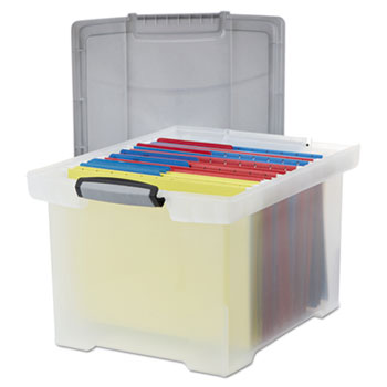 Storex Portable File Tote with Locking Handles Thumbnail