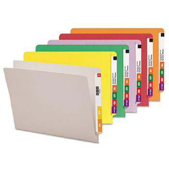 Smead® Reinforced End Tab Colored Folders Thumbnail