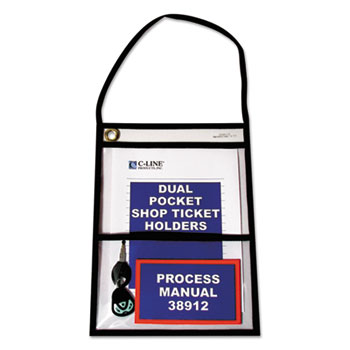 C-Line® Stitched Shop Ticket Holders with Hanging Strap Thumbnail
