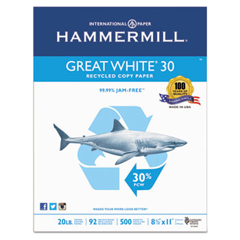 Hammermill® Great White® 30 Recycled Copy Paper Thumbnail