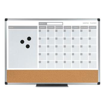3in1 calendar planner dry erase board 36 x 24 silver frame
