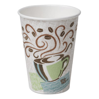 DXE5310DX 10 Oz. Paper Coffee Cups by Dixie | OnTimeSupplies.com