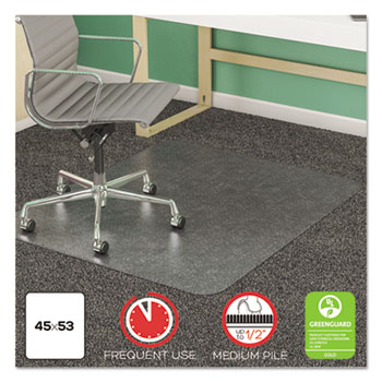 deflecto® SuperMat Frequent Use Chair Mat for Medium Pile Carpeting Thumbnail