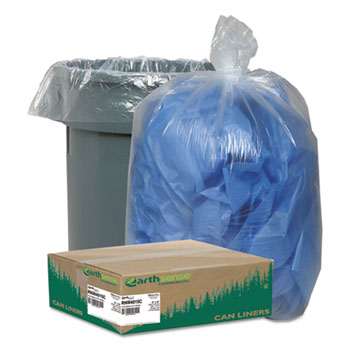 Earthsense® Commercial Linear Low Density Clear Recycled Can Liners Thumbnail