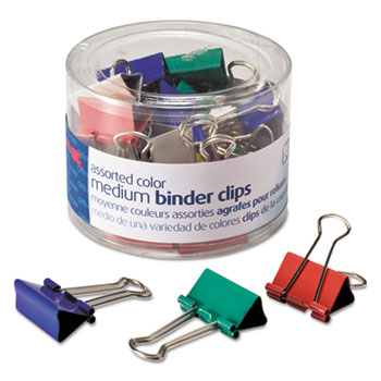 Officemate Assorted Colors Binder Clips Thumbnail