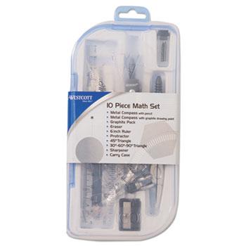 ten piece math tool kit by westcott acm15420 ontimesupplies com