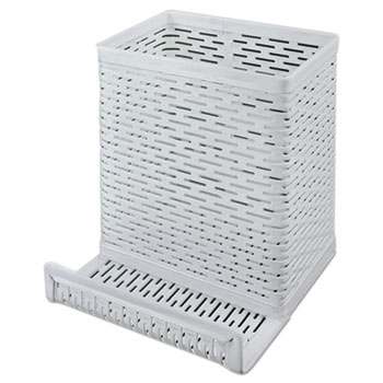 Artistic® Urban Collection Punched Metal Pencil Cup with Cell Phone Stand Thumbnail
