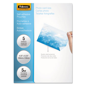 Fellowes® Self-Adhesive Laminating Pouches Thumbnail