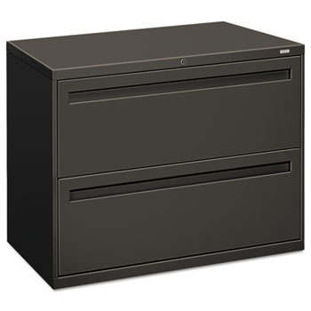700 Series Two Drawer Lateral File, 36w X 19 1/4d, Charcoal