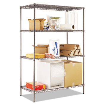 Alera® Black Anthracite Wire Shelving Kit Thumbnail