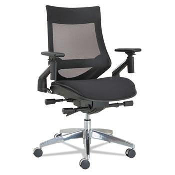 alera eb w series pivot arm multifunction mesh chair by alera