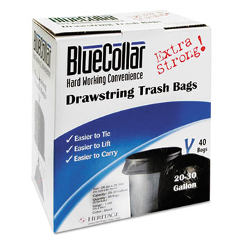 BlueCollar Drawstring Trash Bags Thumbnail