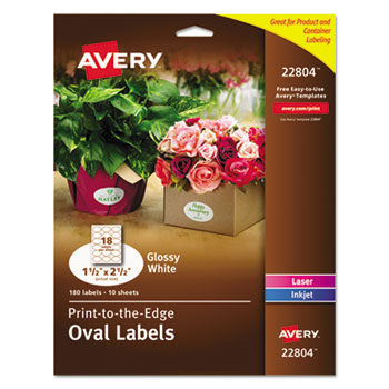 Oval True Print Easy Peel Labels By Avery Ave22804 Ontimesupplies