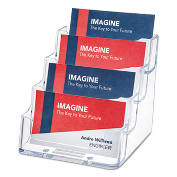 4 pocket business card holder by deflecto def70841 ontimesupplies 4 pocket business card holder 200 card cap 3 1516 x 3 34 x 3 12 clear colourmoves