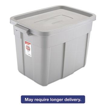 Roughneck Storage Box 16 x 24 x 16 12 18 Gallon Steel Gray