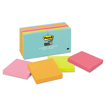 Post-it® Notes Super Sticky Pads in Miami Colors Thumbnail