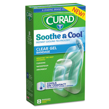 Curad® Soothe & Cool™ Clear Gel Bandages Thumbnail